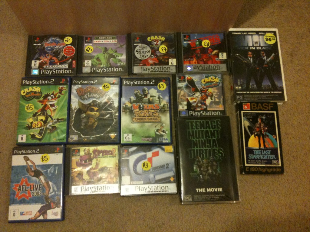 garage sale 3/10/09 ps1 and ps2 games | Keith's blog